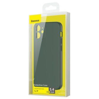 iPhone 12 mini Baseus Liquid Silica case umbris silikoonist tumeroheline WIAPIPH54N YT6A 4