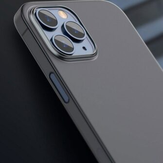 iPhone 12 mini Baseus Wing Case Ultrathin plastikust umbris must 10