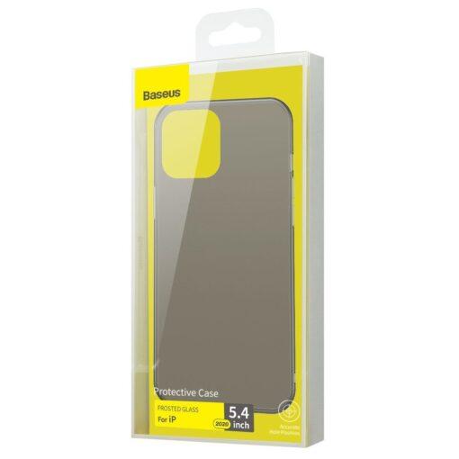 iPhone 12 mini Baseus Wing Case Ultrathin plastikust umbris must 4