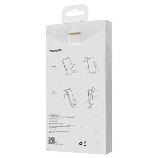 iPhone 12 mini Baseus Wing Case Ultrathin plastikust umbris must 5