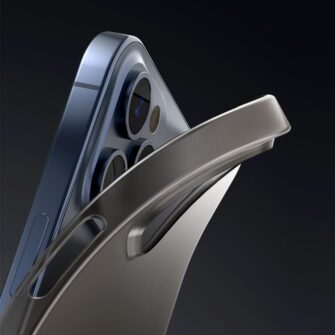 iPhone 12 mini Baseus Wing Case Ultrathin plastikust umbris must 7