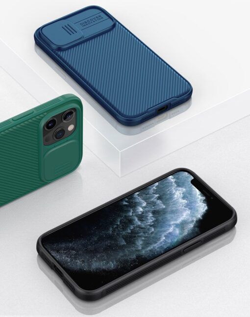 iPhone 12 mini Nillkin CamShield Pro ümbris kaamera kaitsega must 12