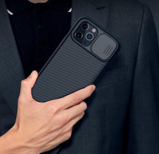 iPhone 12 mini Nillkin CamShield Pro ümbris kaamera kaitsega must 13