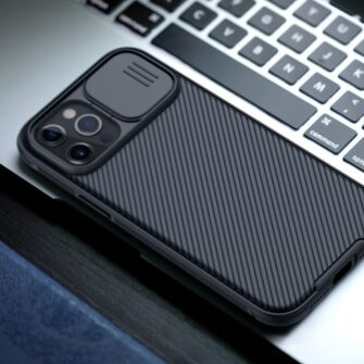 iPhone 12 mini Nillkin CamShield Pro ümbris kaamera kaitsega must 14