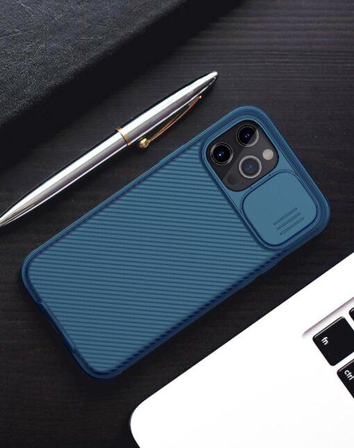 iPhone 12 mini Nillkin CamShield Pro ümbris kaamera kaitsega must 15
