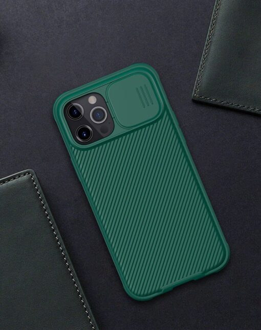 iPhone 12 mini Nillkin CamShield Pro ümbris kaamera kaitsega must 16