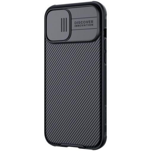 iPhone 12 mini Nillkin CamShield Pro ümbris kaamera kaitsega must 2