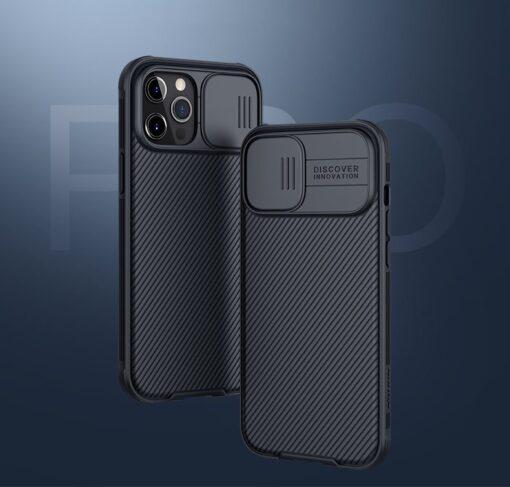 iPhone 12 mini Nillkin CamShield Pro ümbris kaamera kaitsega must 3