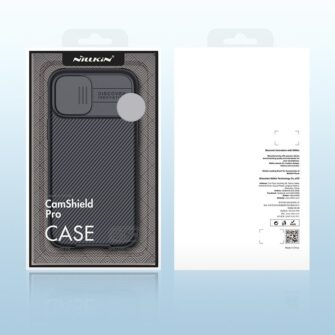 iPhone 12 mini Nillkin CamShield Pro ümbris kaamera kaitsega must 4