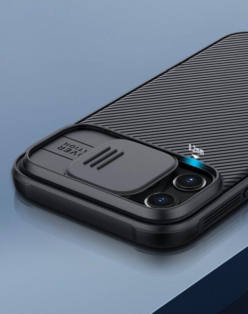 iPhone 12 mini Nillkin CamShield Pro ümbris kaamera kaitsega must 5