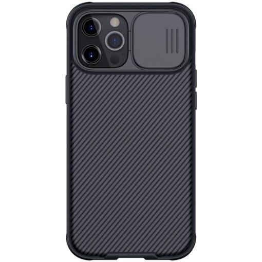 iPhone 12 mini Nillkin CamShield Pro ümbris kaamera kaitsega must
