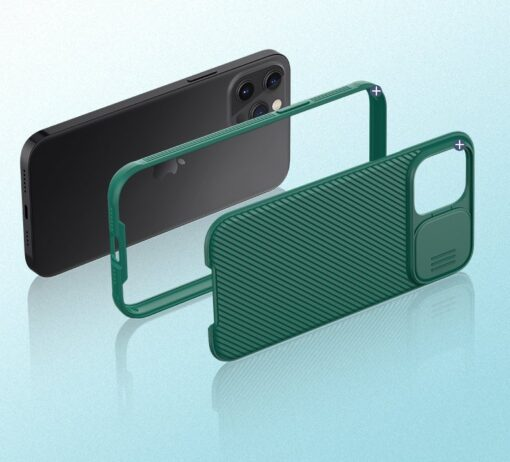 iPhone 12 mini Nillkin CamShield Pro ümbris kaamera kaitsega must 6
