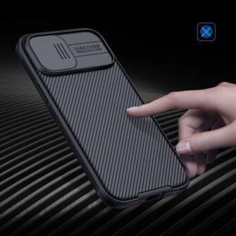 iPhone 12 mini Nillkin CamShield Pro ümbris kaamera kaitsega must 7