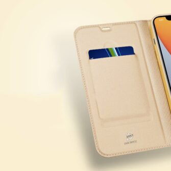 iPhone 12 mini kaaned Dux Ducis Skin Pro Bookcase kuldne 13