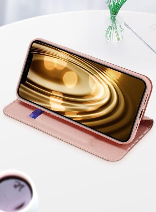 iPhone 12 mini kaaned Dux Ducis Skin Pro Bookcase kuldne 17