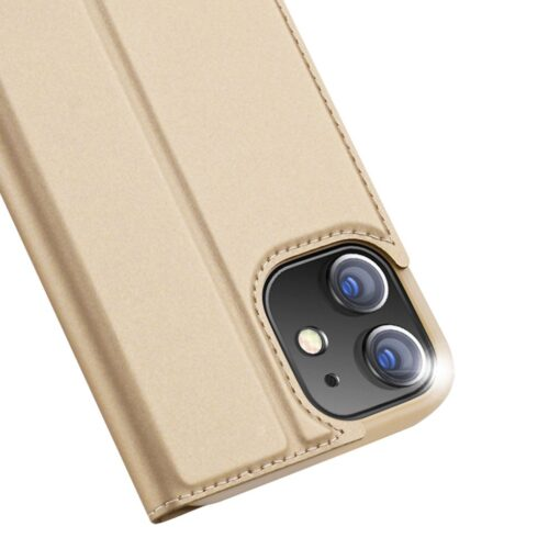 iPhone 12 mini kaaned Dux Ducis Skin Pro Bookcase kuldne 2