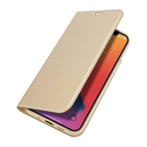 iPhone 12 mini kaaned Dux Ducis Skin Pro Bookcase kuldne 3
