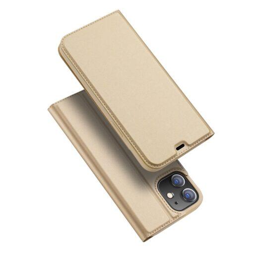 iPhone 12 mini kaaned Dux Ducis Skin Pro Bookcase kuldne