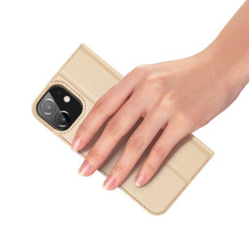 iPhone 12 mini kaaned Dux Ducis Skin Pro Bookcase kuldne 6
