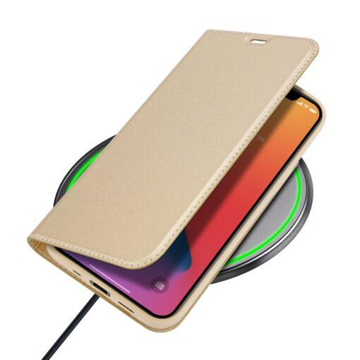 iPhone 12 mini kaaned Dux Ducis Skin Pro Bookcase kuldne 7