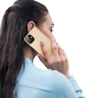 iPhone 12 mini kaaned Dux Ducis Skin Pro Bookcase kuldne 9