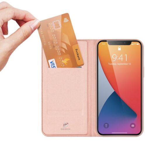 iPhone 12 mini kaaned Dux Ducis Skin Pro Bookcase roosa 1
