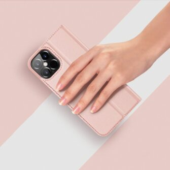 iPhone 12 mini kaaned Dux Ducis Skin Pro Bookcase roosa 11