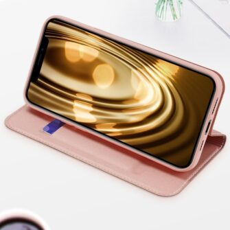 iPhone 12 mini kaaned Dux Ducis Skin Pro Bookcase roosa 18