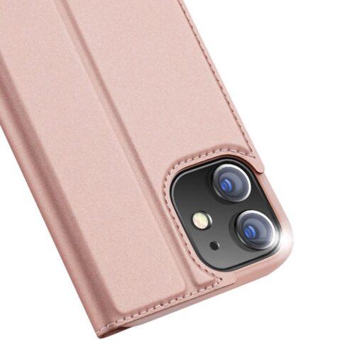 iPhone 12 mini kaaned Dux Ducis Skin Pro Bookcase roosa 2