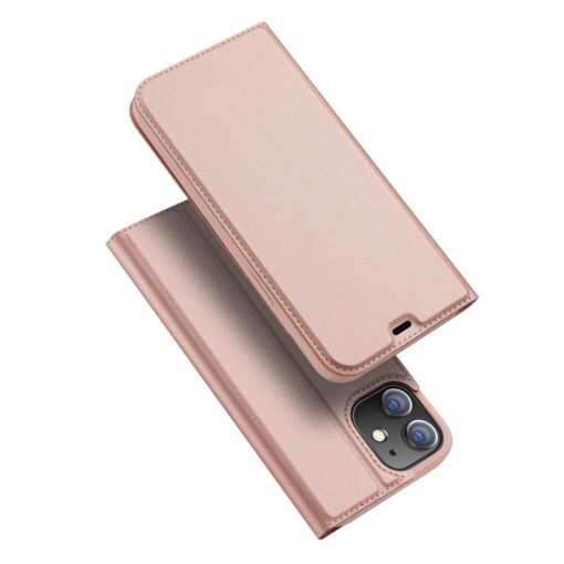 iPhone 12 mini kaaned Dux Ducis Skin Pro Bookcase roosa
