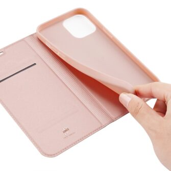 iPhone 12 mini kaaned Dux Ducis Skin Pro Bookcase roosa 7