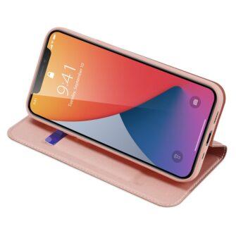 iPhone 12 mini kaaned Dux Ducis Skin Pro Bookcase roosa 8