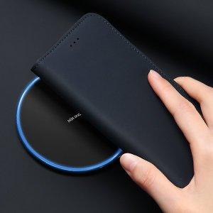 iPhone 12 mini kaaned päris nahast kaarditasku rahataskuga DUX DUCIS Wish must 12