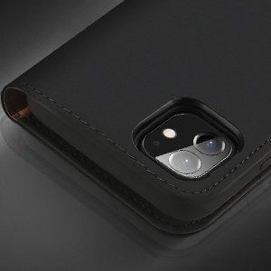 iPhone 12 mini kaaned päris nahast kaarditasku rahataskuga DUX DUCIS Wish must 14