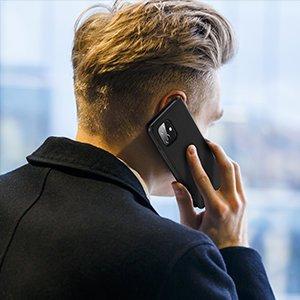 iPhone 12 mini kaaned päris nahast kaarditasku rahataskuga DUX DUCIS Wish must 15