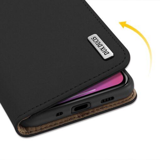 iPhone 12 mini kaaned päris nahast kaarditasku rahataskuga DUX DUCIS Wish must 6
