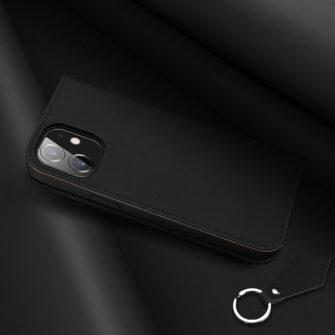 iPhone 12 mini kaaned päris nahast kaarditasku rahataskuga DUX DUCIS Wish must 8