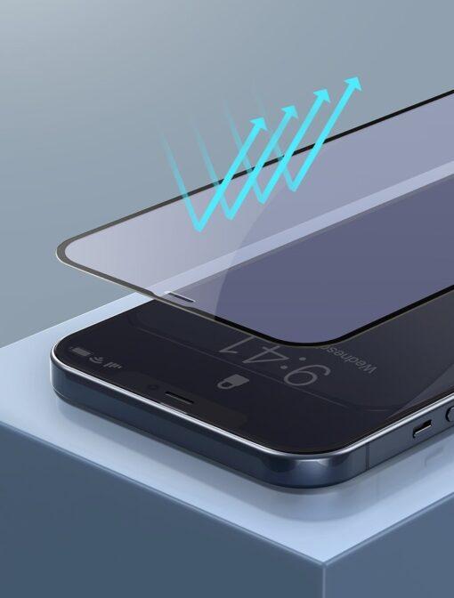 iPhone 12 mini kaitseklaas sinise valguse kaitsega taisekraan 0.23mm 2tk 10