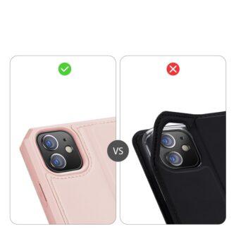iPhone 12 mini kunstnahast kaaned kaarditaskuga DUX DUCIS Skin X roosa 10