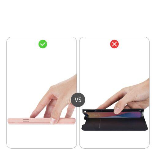 iPhone 12 mini kunstnahast kaaned kaarditaskuga DUX DUCIS Skin X roosa 11