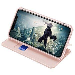 iPhone 12 mini kunstnahast kaaned kaarditaskuga DUX DUCIS Skin X roosa 16