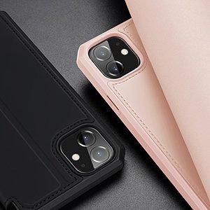 iPhone 12 mini kunstnahast kaaned kaarditaskuga DUX DUCIS Skin X roosa 20