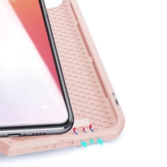iPhone 12 mini kunstnahast kaaned kaarditaskuga DUX DUCIS Skin X roosa 8