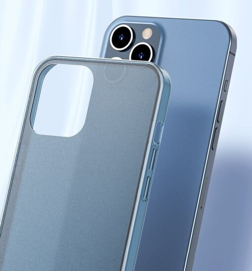 iPhone 12 mini plastikust frosted ümbris Baseus Frosted Glass Case valge 10
