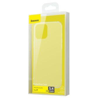 iPhone 12 mini plastikust frosted ümbris Baseus Frosted Glass Case valge 4