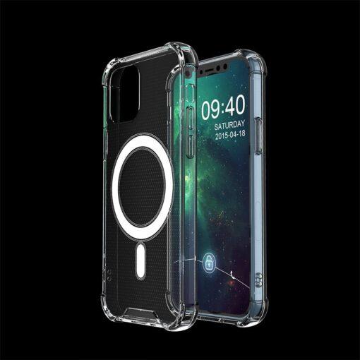 iPhone 12 mini silikoonist MagSafe tugevdatud nurkadega kaaned labipaistev 5