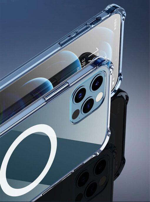 iPhone 12 mini silikoonist MagSafe tugevdatud nurkadega kaaned labipaistev 7