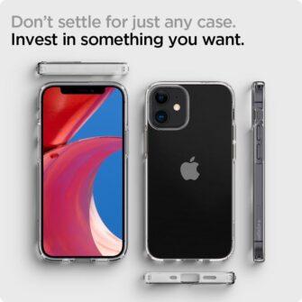 iPhone 12 mini silikoonist kaaned Spigen Liquid Crystal Clear 10