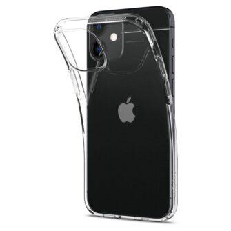 iPhone 12 mini silikoonist kaaned Spigen Liquid Crystal Clear 4