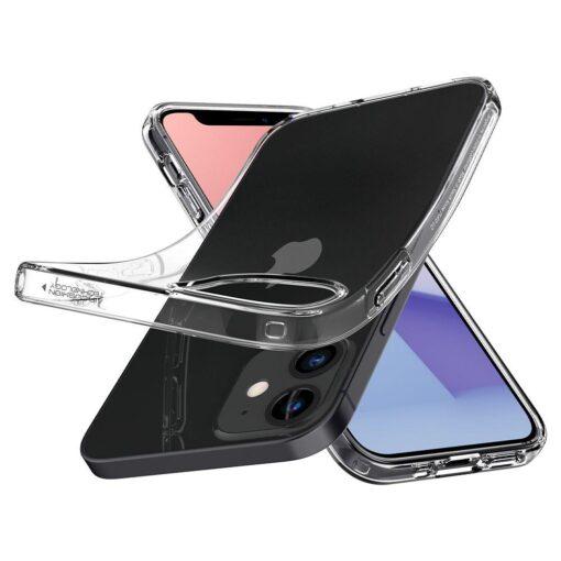 iPhone 12 mini silikoonist kaaned Spigen Liquid Crystal Clear 5